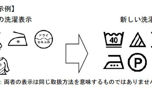 品質表示の絵表示(洗濯マーク)が改正